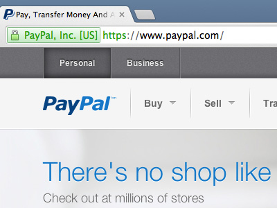 PayPal website